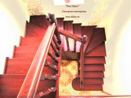 Лестница кладовка из массива березы