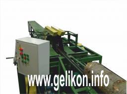 Станок брусующий двухвальный пилы сдвигаются и раздвигаются за 5 сек СЛД-2П-1000К с кантователем бревна(45.5 Квт)