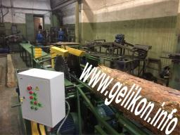 станок брусующий с кантователем бревна и вытяжным мех слд-2п-1000М (44.2 кВт)