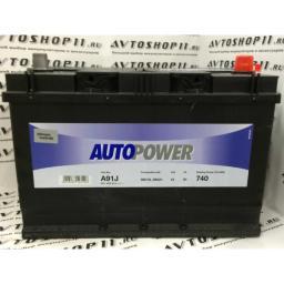 Аккумулятор AUTOPOWER 91 Ah EN740 о/п