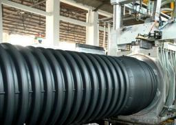 Труба гофрированная SN6 с раструбом D200мм (6 метров) для канализации
