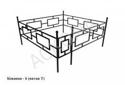 Кованая оградка - 6 (Витая Т)