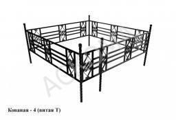 Кованая оградка - 4 (Витая Т)