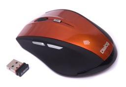 Мышь беспроводная оптическая Dialog Katana MROK-17U Orange, 5 кн, 1000-1600 dpi, USB, черно-оранжевая