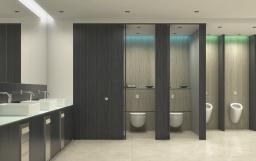 Санитарный конструкционный пластик Polyrey для туалетных кабин и сантех перегородок HPL