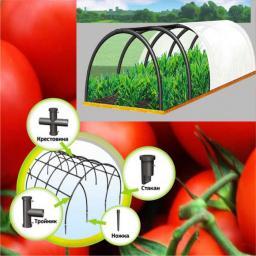 Сборный семисекционный мини парник ПДМ-7 переносной для дачи, огорода и сада
