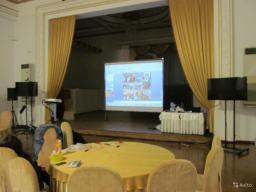 Аренда, прокат большого экрана на ножках в Томске 3х2,4 метра