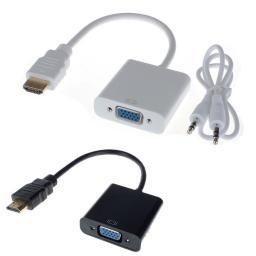 Кабель-адаптер HDMI -> VGA+audio (15F + mini-jack F) в Томске.