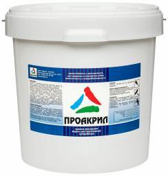 Проакрил — белая акриловая краска для стен и фасадов, 28кг