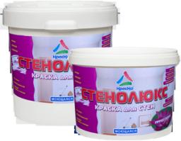 Стенолюкс - высокоукрывистая супербелая краска для стен влажных помещений, с эффектом лотоса, полуматовая, 24кг