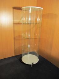 Стеклянная круглая витрина высота 1500 мм