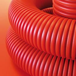 Труба для кабеля 90мм гофрированная двухслойная гибкая с протяжкой