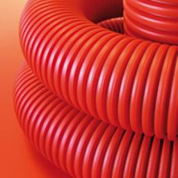 Труба для кабеля 110мм гофрированная двухслойная гибкая с протяжкой