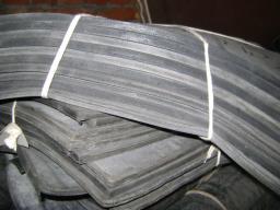 Пластина силиконовая 300х300х2 мм черного цвета