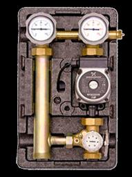 Насосная группа подмеса МК с термостатом с насосом Grundfos Alpha 2L 25-60