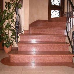 Гранитная лестница Imperial Red