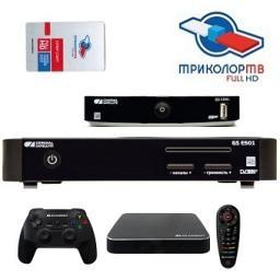Ресиверы для ТРИКОЛОР ТВ на 2 телевизора General Satellite GS E501/GS GameKit Full HD