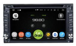 CarDroid RD-1002 - Универсальное головное устройство 2DIN с экраном 6.2 (Android 5.1.1)