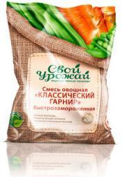 Смесь овощная «Классический гарнир» быстрозамороженная
