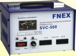 стабилизатор напряжения однофазный Fnex SVC-500