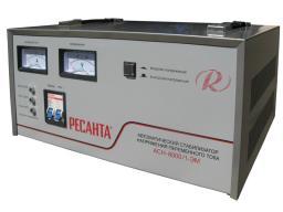 стабилизатор напряжения однофазный ресанта АСН-8000 / 1-ЭМ (resanta)