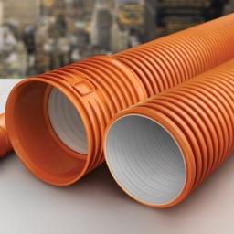 Труба гофрированная для наружной канализации D 200 SN8