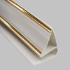Молдинг ПВХ потолочный Gold Line для панелей 8-10 мм