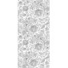 Панель ПВХ Текстильный орнамент Серебро 350-1