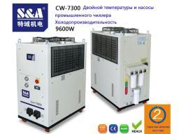 CW-7300 Холодопроизводительность Двойной температуры и насосы чиллера 9600w
