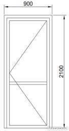 Дверь одностворчатая в проем холодная 900*2100мм