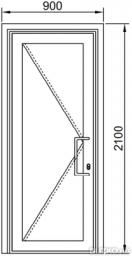 Дверь маятниковая одностворчатая