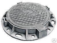 Люк чугунный тяжелый Т (С250)-7-60 с шарниром ГОСТ 3634-99