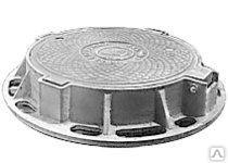 Люк чугунный тяжелый Т (С250)-7.2-60 с шарниром и запорным устройством