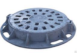 Дождеприёмник чугунный большой круглый ДБ2-В125-1-60 (ДК2) ГОСТ 3634-99