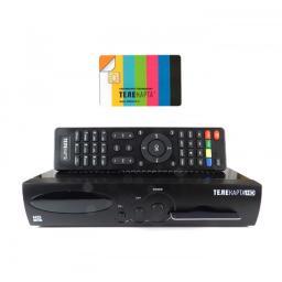 Ресивер EVO 07 HD + карта Телекарта HD год оплачен