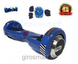Гироскутер Smart Sport Kids. Детский. Синий. С верхней подсветкой. Полный комплект защиты в подарок!