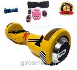 Гироскутер Smart Sport Kids. Детский. Желтый. С верхней подсветкой. Полный комплект защиты в подарок!