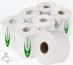 Туалетная бумага 100 метров (белая, эконом, 2 слоя, упаковка 12 рулонов)