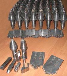 Лопатки буровые для горизонтального бурения грунта под трубы и кабель
