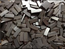 Сегменты (штрипсы) для отрезных кругов и полосовых пил 8 х 8 х 24 мм