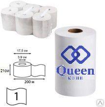 Бумажные рулонные полотенца для диспенсеров 200 метров (1 уп. - 6 рулонов)