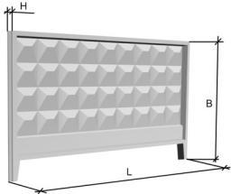 Железобетонный забор П6В