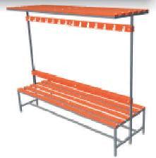 Скамейка двухсторонняя с вешалками и полкой 1000 / 1500 / 2000х730х1750мм