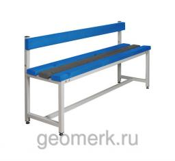 Скамья разборная односторонняя, со спинкой, СКП-1С (пластик / металл)