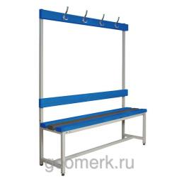 Скамья разборная односторонняя, с вешалкой, СКП-1В (пластик / металл)