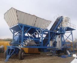 Бетонный завод мобильный 25 куб/час(Буксируемый)