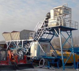 Бетонный завод мобильный 50 куб/час