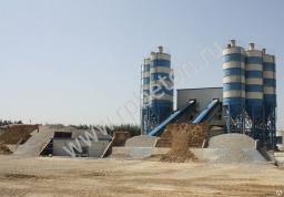 Бетонный завод стационарный ленточный, БРУ, бетоносмеситель 120куб/час