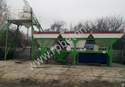 Стационарный мини-бетонный завод 25 куб.м эконом класса