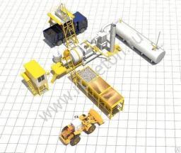 Асфальтный завод QLB30 мобильный